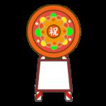慶事用の花環のイラスト