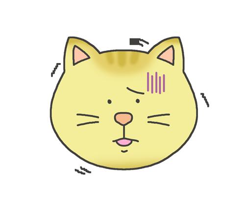 恐怖・怖がる猫のイラスト