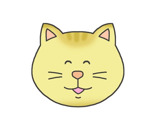幸せそうな表情の猫のイラスト
