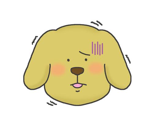 恐怖・怖がる犬のイラスト