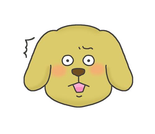 驚く犬のイラスト