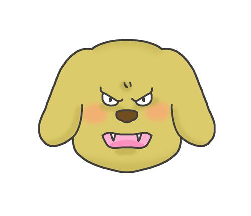 怒っている犬のイラスト