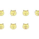猫の表情のイラスト