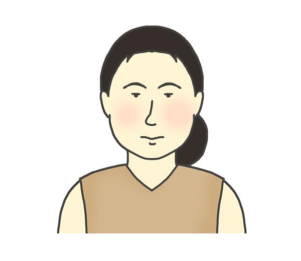 弥生人のイラスト(女性)