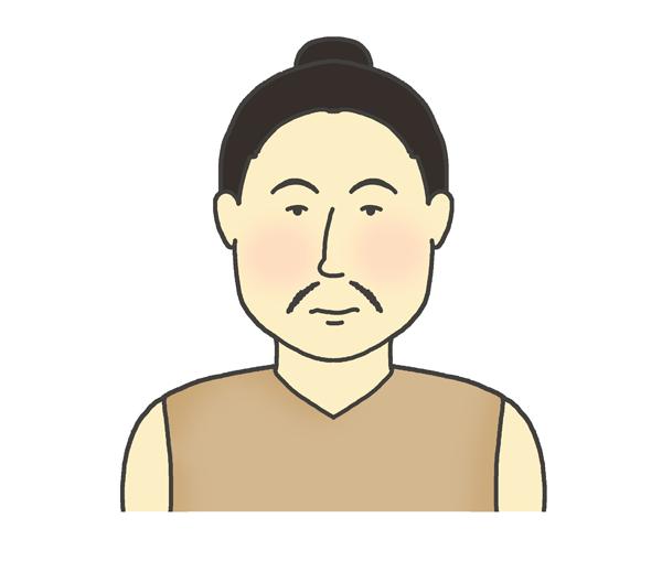弥生人のイラスト(男性)