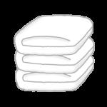 たたんであるタオルのイラスト