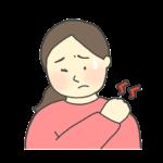 肩こりのイラスト(女性)