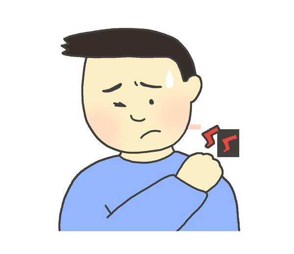 肩こりのイラスト(男性)