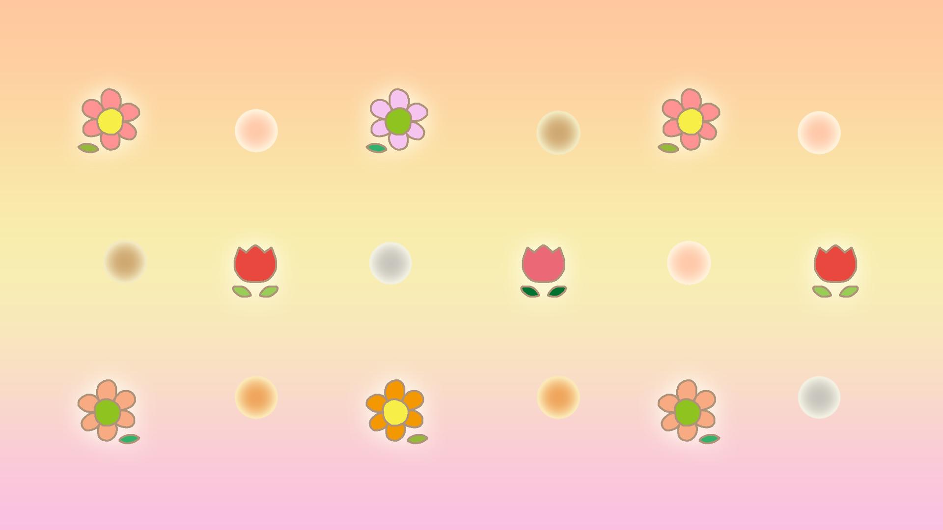 お花モチーフのバーチャル背景のイラスト