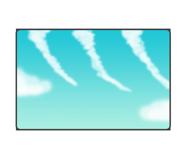 地震雲のイラスト