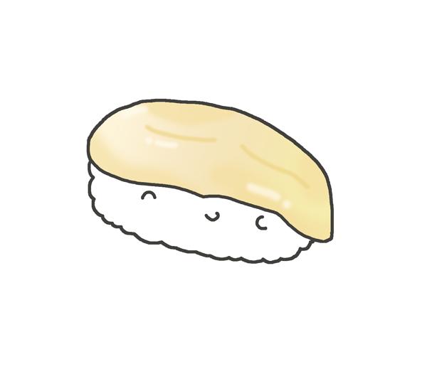 ホッキ貝のお寿司のイラスト