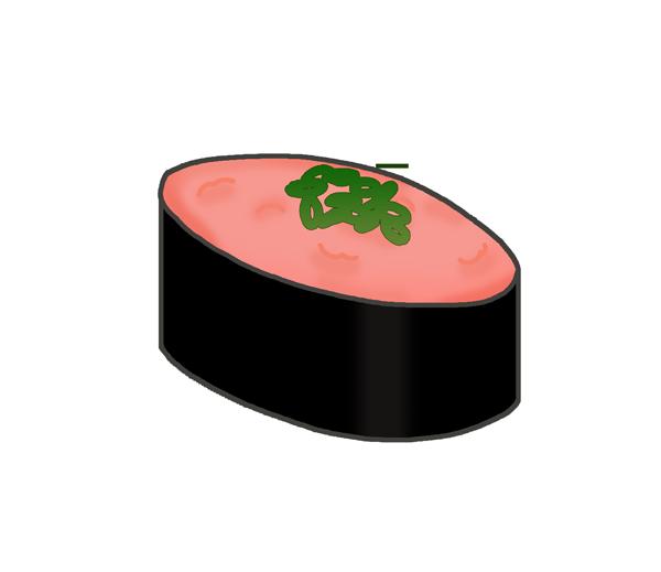 ねぎとろ寿司のイラスト