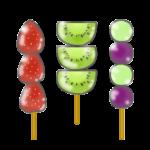 フルーツ飴のイラスト