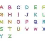 アルファベットの文字イラスト