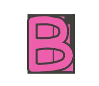 Bの文字イラスト