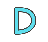 Dの文字イラスト