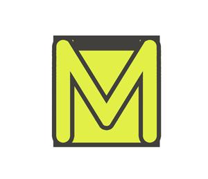 Mの文字イラスト