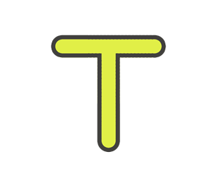 Tの文字イラスト