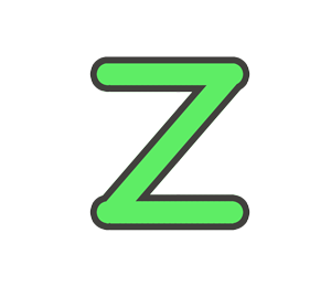 Zの文字イラスト