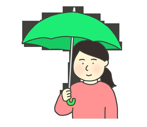 傘をさしている女性のイラスト