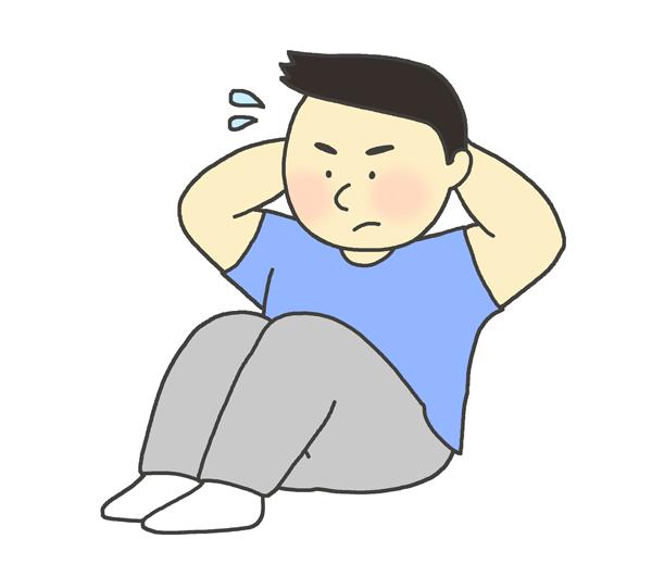 腹筋のイラスト(男性)