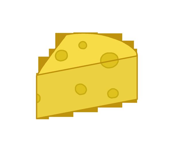 穴あきチーズのイラスト