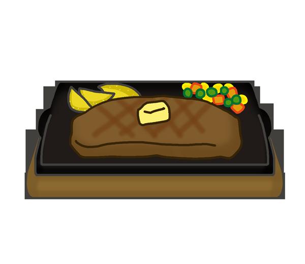牛肉のステーキのイラスト
