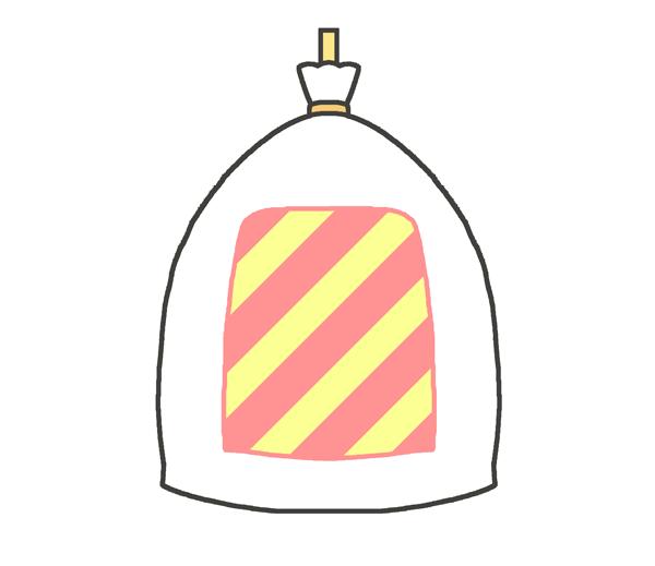 袋入り綿菓子のイラスト