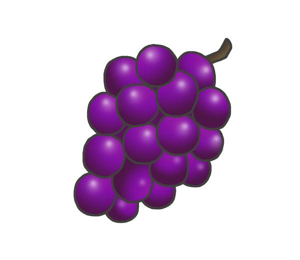 葡萄のイラスト(紫)