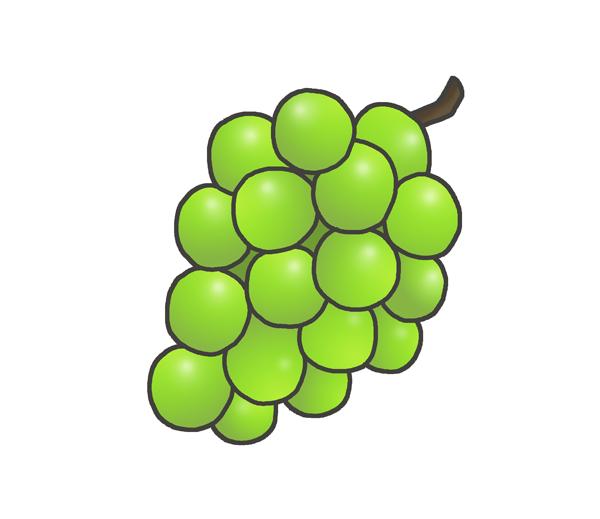 葡萄のイラスト(緑)