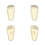 人間の足のイラスト