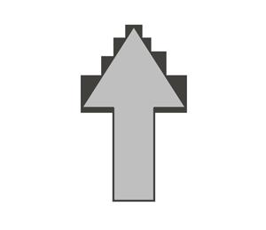 矢印のイラスト(上)