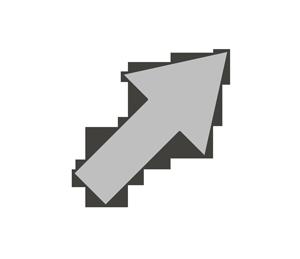 矢印のイラスト(右上)