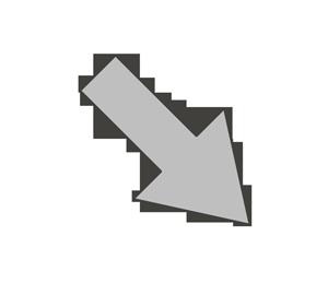 矢印のイラスト(右下)