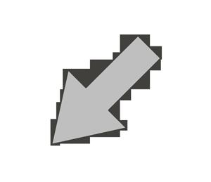 矢印のイラスト(左下)
