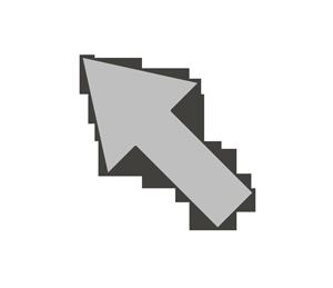 矢印のイラスト(左上)