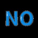 「NO」の文字イラスト