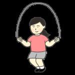 縄跳びをしている女性のイラスト