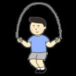 縄跳びをする男の子のイラスト