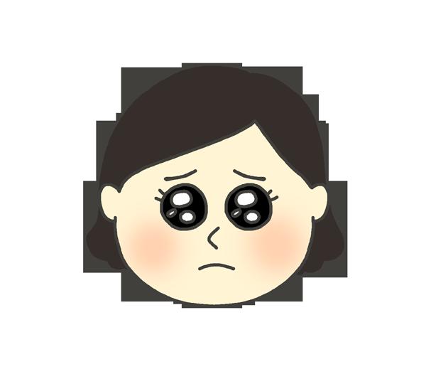 ぴえんのイラスト(女性)