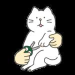 猫の爪切りのイラスト