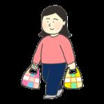 マイバッグを持つ女性のイラスト