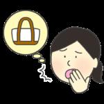 マイバッグを忘れた女性のイラスト