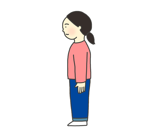 姿勢が良い女性のイラスト