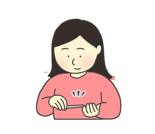 爪やすりをかける女性のイラスト