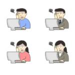 パソコンが苦手な人のイラスト