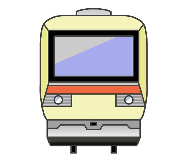 電車の正面のイラスト