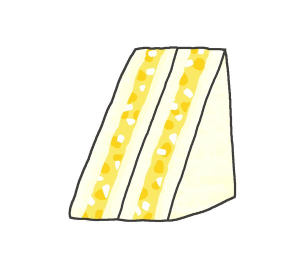 タマゴサンドのイラスト