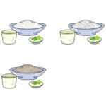 色々な冷やし麺のイラスト