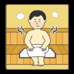 サウナのイラスト(男性)